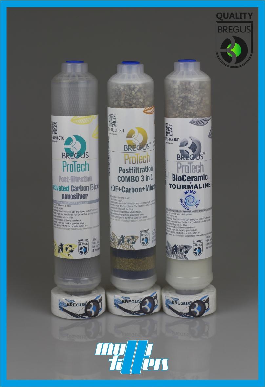 Zestaw wkładów Bregus® ProTech Nanosilver Postfilter + Postfilter 3 in 1 + BioCeramic Tourmaline - 1