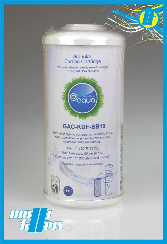 """Wkład węglowy granulowany Paqua 10B"""" + KDF - 1"""